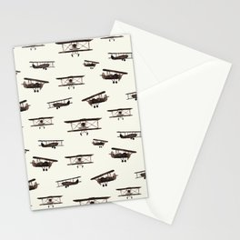Retro airplanes Stationery Cards