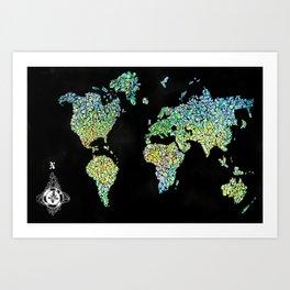Crystal map Art Print