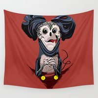 mickey Wall Tapestries featuring Creepy Mickey by tshirtsz