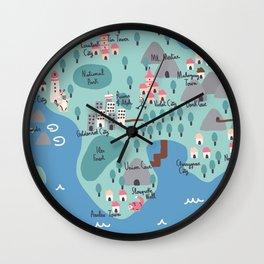 Johto Map Wall Clock