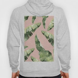 Banana Leaves 2 Green And Pink Hoody