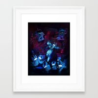 disco Framed Art Prints featuring Disco by tipa graphic