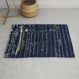 Library Card 780 The Wonderful World of Music Negative Rug