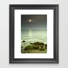 Mistery beach. Framed Art Print