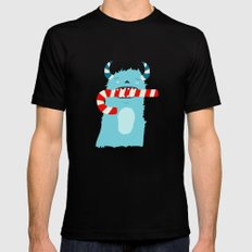 December Monsters: Candy Cane Mens Fitted Tee Black MEDIUM
