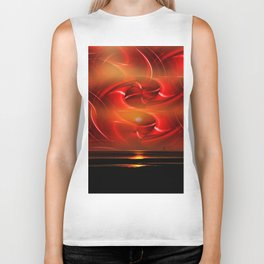 Abstract perfection - Sunst Biker Tank