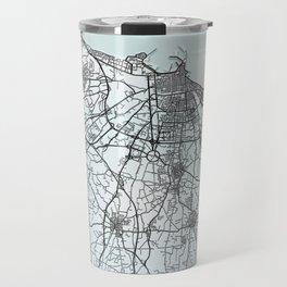Bari, Italy, White, City, Map Travel Mug