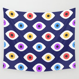 Lucky Eyes Vintage Pattern Wall Tapestry