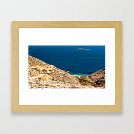 Stara Baska bay in krk Framed Art Print