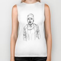 liam payne Biker Tanks featuring Liam Payne  by Cécile Pellerin