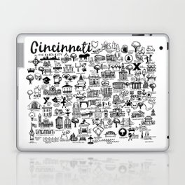 Cincinnati Ohio Map Laptop & iPad Skin