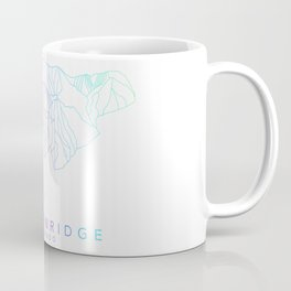 BRECKENRIDGE // Colorado Trail Map Rainbow Color Runs Minimalist Ski & Snowboard Illustration Coffee Mug