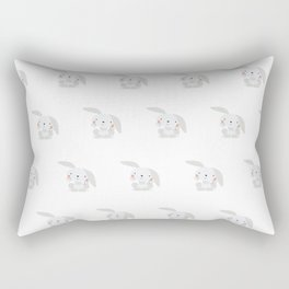 Bunny Pattern Rectangular Pillow
