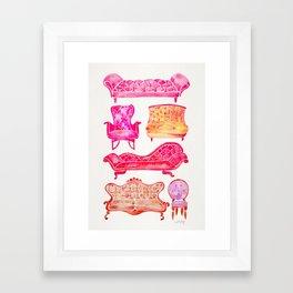 Victorian Lounge – Pink Palette Framed Art Print