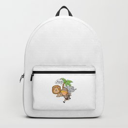 VBS Is Wild And We're Ready Funny Vacation Bible School Design Gift Backpack