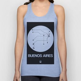 Buenos Aires White Subway Map Unisex Tank Top