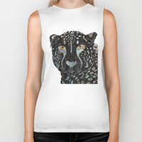 cheetah Biker Tanks featuring Cheetah by  Steve Wade ( Swade)