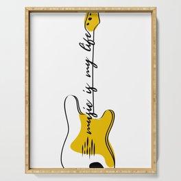 Guitar Modern Line Art Serving Tray
