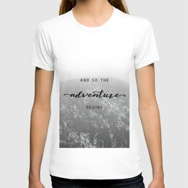 And So The Adventure Begins - Snowy Mountain T-shirt