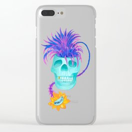 Rad cool skull Clear iPhone Case