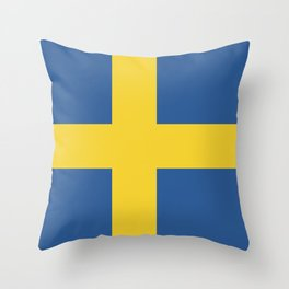 Sweden flag emblem Throw Pillow