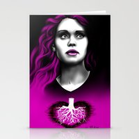 lydia martin Stationery Cards featuring Black Heart - Lydia by xKxDx