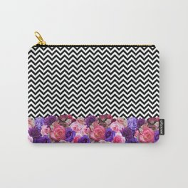 Floral Chevron Carry-All Pouch