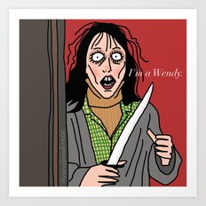 Female Trouble Series: Wendy Torrance Art Print