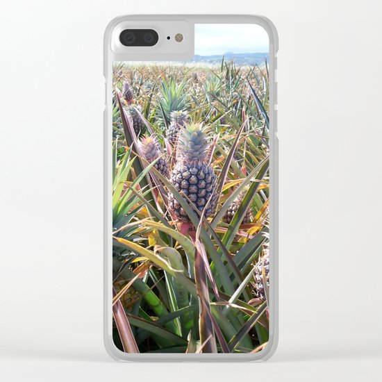 Pineapple Field Clear iPhone Case