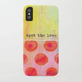 """Spot The Love"" An original design by PhillipaheART iPhone Case"