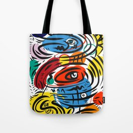 Joyful Life Abstract Art Illustration for Kids and Everyone Tote Bag