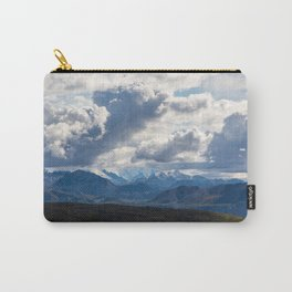 Denali peaking through the clouds Carry-All Pouch