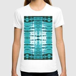 Aqua Satin Shibori T-shirt