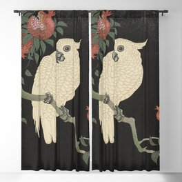 Cockatoo and Pomegranate 柘榴に鸚鵡 Blackout Curtain