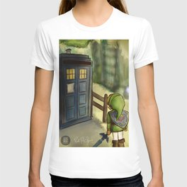 two worlds collide (Doctor Who and Leyend of zelda) T-shirt