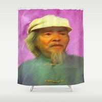 propaganda Shower Curtains featuring Fight Ignorance by Paul Kimble