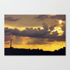 Sunset over Paris Canvas Print