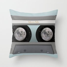 The Moon Mix Tape Throw Pillow