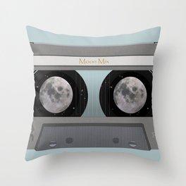 The Moon Mix Tape Throw Pillow