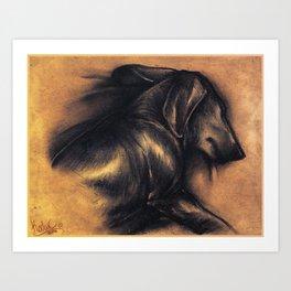 Dackel Art Print