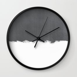White Paint on Concrete Wall Clock