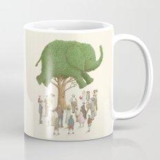 The Night Gardener - Elephant Topiary  Coffee Mug