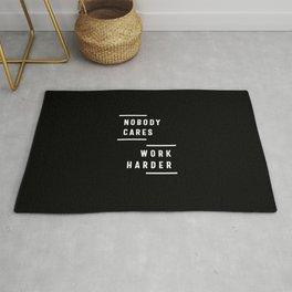 Nobody Cares Work Harder Fitness Workout Gym Gift Rug