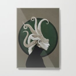 Octopus Portrait Metal Print