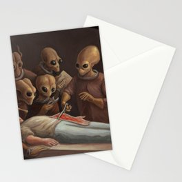 The lesson of anatomy Stationery Cards