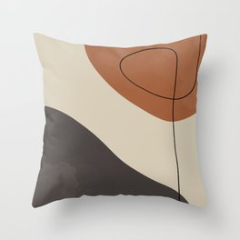 Modern Abstract Shapes #3 Throw Pillow