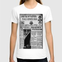 duvet cover T-shirts featuring THE HISTORY OF SHIP DUVET COVER by aztosaha