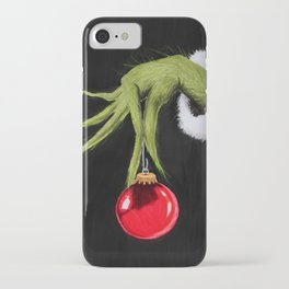 Merry Christmas from mister Grinch iPhone Case