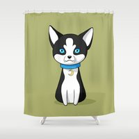 husky Shower Curtains featuring Husky by Freeminds