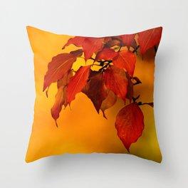 VIVID AUTUMNAL LEAVES Throw Pillow